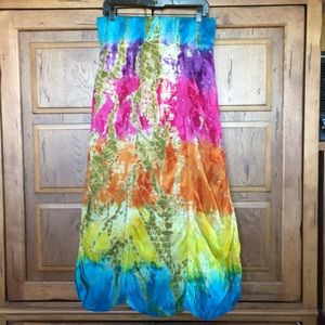 Cute options tie-dye print skirt from India sz M